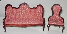 2 PC. VICTORIAN LIVING ROOM DOLL HOUSE FURNITURE MINIATURES