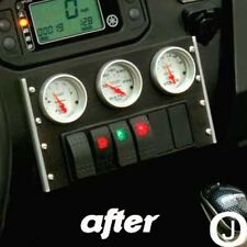 Yamaha Rhino Center Dash abs Blank Cover Plate for Mounting Gauges Black