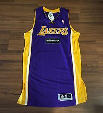 "Adidas NBA Authentic LA Lakers Rev30 Purple Blank Jersey Sz Large +2"" NEW!!!"
