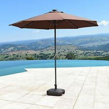 SUPERNOVA 9'FT Solar LED Lights Patio Umbrella Garden Outdoor Sunshade Market