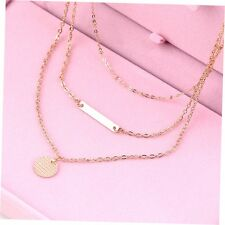 Charm Multi-layers Geometry Pendant Choker Necklace Jewelry Chain Gift BY