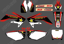 TEAM GRAPHICS BACKGROUNDS DECALS STICKERS For HONDA CRF250 CRF250R 2006 07 D4