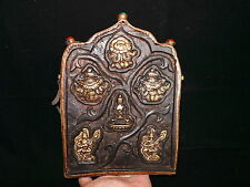 Old Nepal Tibet Buddhist Thogchags Embeded Portable Wooden Votive Ghau II