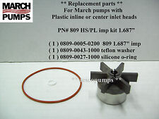 March  809 HS / PL  1.687 impeller kit    home brewing pump parts