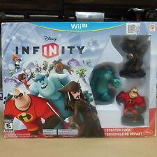Disney Infinity Starter Pack  (Nintendo Wii U, 2013) Mr. Incredible,Jack Sparrow