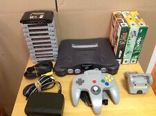 Nintendo 64 Console Bundle - Wires, Controller, 14 Games - 3 Boxed - N64 - 1M