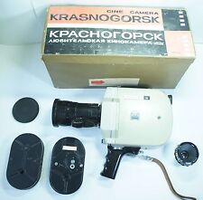 "KIT 3 LENS!Krasnogorsk16mm Movie Camera+Meteor5-1&MIR&VEGA ""Krasnogorsk bayonet"""