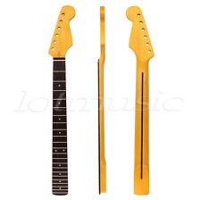 Yellow 22 Fret Maple Rosewood Fretboard Electric Guitar Neck For ST Replacement