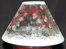 Yankee Candle Snowberry Crackle Christmas/Winter Glass Jar Plate & Shade Set