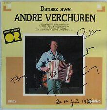 Dédicace André Verchuren 33 tours Dansez avec