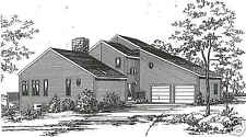 3 Bed Room, 2 1/2 Bath 2200 SF Contemporary / 2 Car Garage Building House Plans
