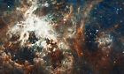 Hubble Turbulent Star Making A1 High Quality Canvas Print