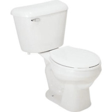 Mansfield Alto Complete Round Front White 1.6 GPF Toilet In A Box