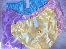 LOT OF 3  PRETTY AND LOVELY SATIN BIKINI PANTY  Size L