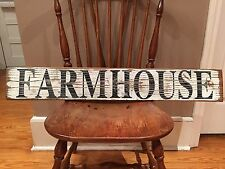 Large Farm House Rustic Distressed Kitchen Fixer Upper Style White Wood Sign!