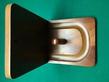 NIB Wall Mount Pool / billiards Table Cone Chalk Holder dark Oak wood NO Chalk