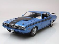 Dodge Challenger R/T 1971 blau metallic, Modellauto 1:18 / Greenlight