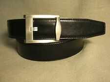 Non-Branded Mens Black Genuine Leather on Manmade Belt Sz 36 NWT $35