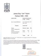 JIM TAYLOR FULHAM 1946-1953 RARE ORIGINAL HAND SIGNED CUTTING/CARD