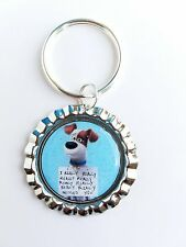 """THE SECRET LIFE OF PETS """" Max Missed You"""" Bottle Cap with Keyring"""