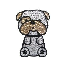 Bulldog Dog Rhinestone Glitter Jewel Phone Ipod Iphone Sticker Decal