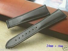 Genuine Leather Band/Strap.bracelet Maurice Lacroix replacement black, 24mmx18mm