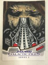 STAR WARS GALACTIC FILES SERIES 2 SKETCH CARD BY STREPHON TAYLOR
