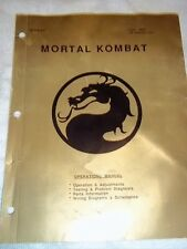Mortal Combat Operation Manual - Original