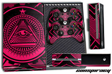 Designer Skin for XBOX ONE 1 Gaming Console+2 Controller Sticker Decal CONSP PNK