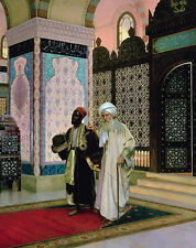 Huge Oil painting Male portrait Arabs men elders In the mosque no framed canvas