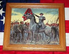 Framed Civil War Painting. Mort Kunstler, LAST RALLY....Robert E Lee