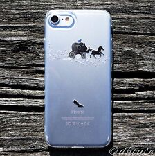 MADE IN JAPAN Soft Clear TPU Case Cinderella Carriage for iPhone 7