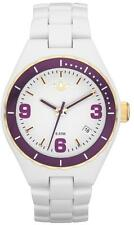 New Adidas Cambridge Mini White Acrylic Band Date Women Watch 35mm ADH2588 $95