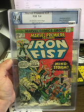 Marvel Premiere 25 PGX 9.4 off white to  white pages Iron First