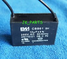 New BM CBB61 12uF 2 WIRE 250VAC Ceiling Fan Capacitor UL CERTIFIED