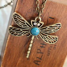 Hot Vintage Style Bronze Metal Alloy Insect Dragonfly Pendant Necklace Jewelry