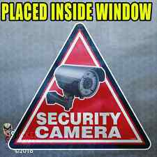 "3 Pack ""INSIDE"" TRIANGLE Security Camera Stickers Home Alarm Decal Window FS059"