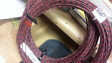 100' Western Electric 22ga,CLOTH,tinned.thick insulation, BK/RED 1-wire