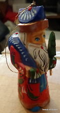 "Russian hand carved&painted wood Santa Father of Frost. 3.5 ""   #14 s"