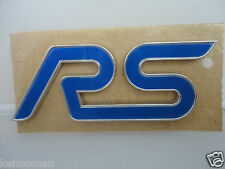 ORIGINALI FORD FOCUS RS Posteriore PORTELLONE / BOOT / WING RS Badge * FORD MAIN Dealer *