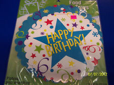 Birthday Stars Streamers Blue Party Decoration Round Doilies Paper Food Trays