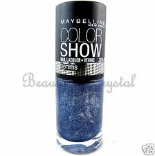 Maybelline Color Show Nail Lacquer Polish Denims STYLED OUT 20 Deep Blue Shimmer