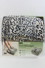 NEW SPA MASSAGE FOOT MASSAGER RELAXATION THERAPY COMFORT LEOPARD PRINT NIB