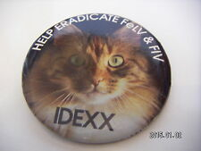 HELP ERADICATE FeLV & F1V CAT PICTURE BADGE