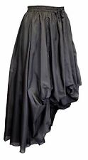 Dark Star Black Victorian Gothic Steampunk Ruched Hitched Skirt Freesize 10-18