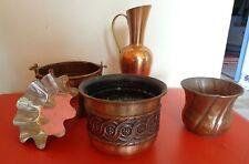 Konvolut Blumentöpfe Vase Backform aus Kupfer 5 Stück