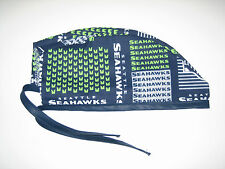 Surgical Scrub Hats/Cap NFL Seattle Seahawks Dark blue w/ lime green pseudoblock