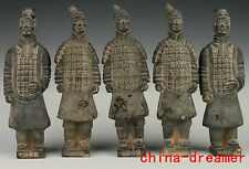 5 ASIATIQUE CHINOISES VINTAGE COLLECTIONS CÉRAMIQUE STATUE TERRA COTTA WARRIORS