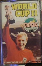 World CUP II C 64 cassette (TAPE) (Game, Manual, imballaggio)