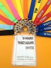 10 Security Lanyards With Break away FREE Clear Plastic ID Ticket event Holder